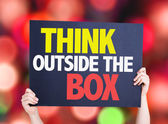 Think Outside the Box card — Stock Photo