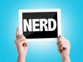 Tablet pc met tekst Nerd — Stockfoto