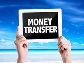 Text Money Transfer — Stock Photo