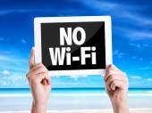 Tablet pc with text No Wi-Fi — Stock Photo