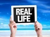 Text Real Life — Stock Photo