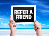 Text Refer a Friend — Stock Photo