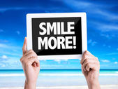 Text Smile More — Stock Photo