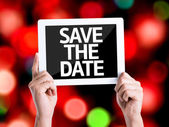 Text Save the Date — Stock Photo