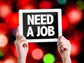 Text Need a Job — Stock Photo