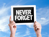 Text Never Forget — Stock Photo
