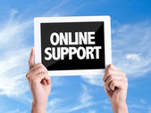 Text Online Support — Stock Photo