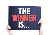The Winner Is... card — Stock Photo