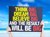 Think Big Dream card — Stock Photo