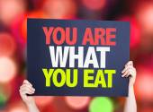 You Are What You Eat card — Stock Photo