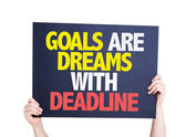 Goals Are Dreams With Deadline card — Stock Photo