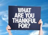 What Are You Thankful For? card — Stock Photo