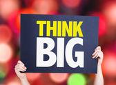 Think Big card — Stock Photo