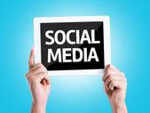 Text Social Media — Stock Photo