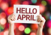 Hello April card — Stock Photo