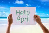 Hello April card — Stock Photo