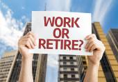 Work or Retire? card — Stock Photo
