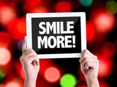 Text Smile More — Stock Photo