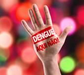 Dengue, No Here!  sign — Stock Photo
