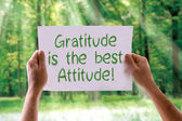 Gratitude is the Best Attitude card — Stock fotografie