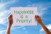 Happiness is a Priority card — Stock Photo