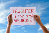 Laughter Is The Best Medicine card — Stock Photo