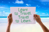Learn to Travel card — Stock Photo