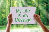 My Life is My Message card — Stock Photo