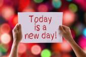 Today is a New Day card — Stock Photo