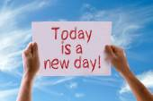 Today is a New Day card — Stock fotografie