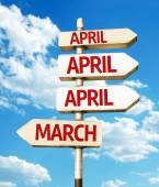 April road sign — Stock Photo