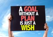 A Goal Without a Plan is Just a Wish card — Stock Photo