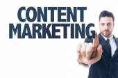 Text: Content Marketing — Stock Photo