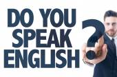 Text: Do You Speak English? — Stock Photo