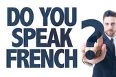 Text: Do You Speak French? — Stock Photo