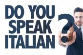 Text: Do You Speak Italian? — Stock Photo