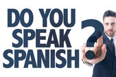 Text: Do You Speak Spanish? — Stock Photo