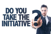 Text: Do You Take The Initiative? — Stock Photo