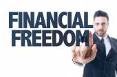 Text: Financial Freedom — Stock Photo