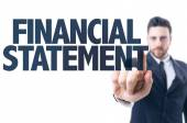 Text: Financial Statement — Stock Photo