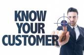 Text: Know Your Customer — Stock Photo