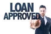 Text: Loan Approved — Stock Photo