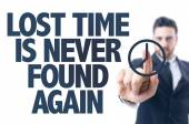Text: Lost Time Is Never Found Again — 图库照片