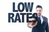 Text: Low Rates — Stock Photo