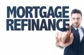 Text: Mortgage Refinance — Stock Photo