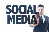 Text: Social Media — Stock Photo