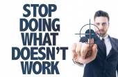 Text: Stop Doing What Doesn't Work — Stok fotoğraf