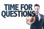 Text: Time For Questions — Stock Photo