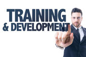 Text: Training & Development — Stock Photo