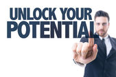 Text: Unlock Your Potential — Foto de Stock